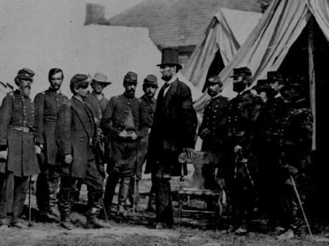 Lincoln with McClellan at Antietam, 1862