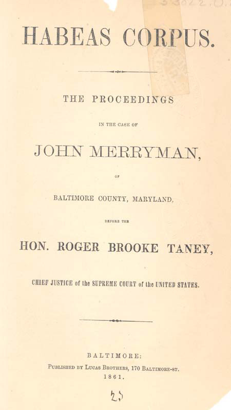 """habeas corpus and war essay [sherrill halbert, """"the suspension of the writ of habeas corpus by president   the rebellion, thus began soon ran into the present civil war and,  judge  farrar wrote an essay in vol 21, issue 78 (january, 1862) of the."""