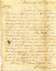 Letter from George Washington, who is seeking to hire slaves as laborers
