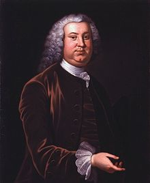Peyton Randolph, first and third president of the Continental Congress, and cousin of Thomas Jefferson, by Charles Willson Peale