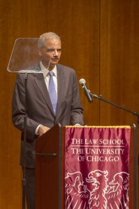 Eric Holder at University of Chicago, April 20, 2013