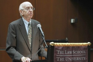 Judge Posner addressing Chinese legal scholars at the University of Chicago
