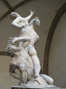 The Rape of the Sabine Women by Giambologna, in  Florence, Italy