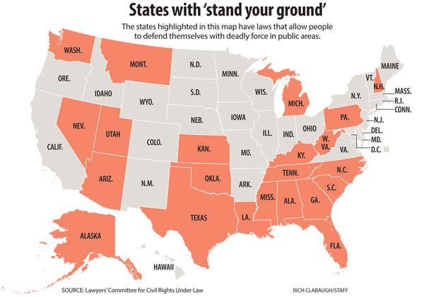 Blacks benefit from Florida 'Stand Your Ground' law at disproportionate rate