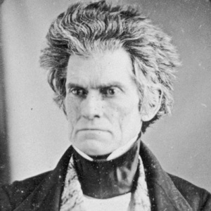 John C. Calhoun having a very bad hair day
