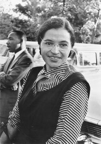 Rosa Parks with Martin Luther King, Jr.