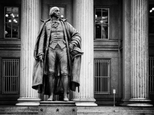Statue of Albert Gallatin at the U.S. Treasury Department