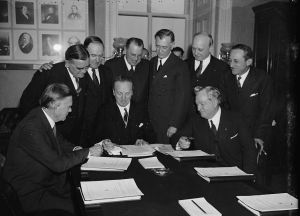 On February 8, 1937, the Senate Judiciary Committee met to consider President Roosevelt's request to increase membership on the Supreme Court. Library of Congress, Prints and Photographs Division, Washington, D.C.
