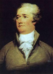 A portrait of Alexander Hamilton by John Trumbull, 1792.
