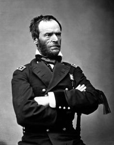 Major General William Tecumseh Sherman  in May 1865 by Matthew Brady. The black ribbon of mourning on his left arm is for President Lincoln.