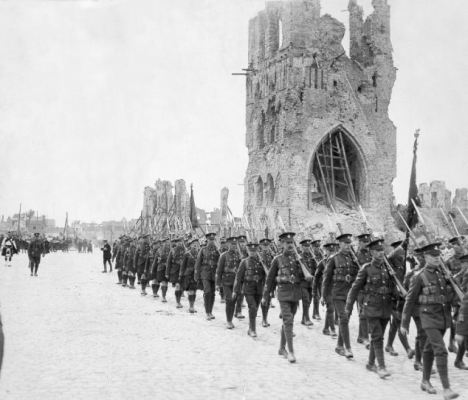 British troops in Ypres, scene of five gruesome battles