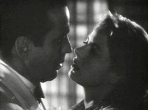 Humphrey Bogart and Ingrid Bergman in the 1942 movie Casablanca