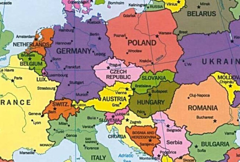 Map Of Germany And Czechoslovakia.November 24 1989 The Entire Communist Party Leadership In