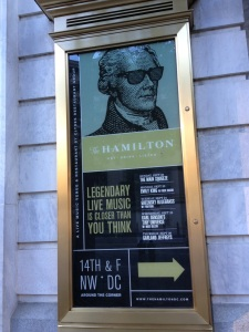 Hamilton as he now appears in the nation's capital...