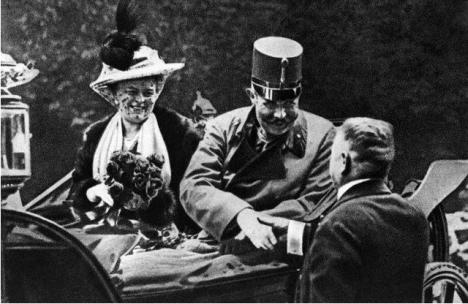 Franz Ferdinand & Sophie arrive in Sarajevo, 6/28/1914