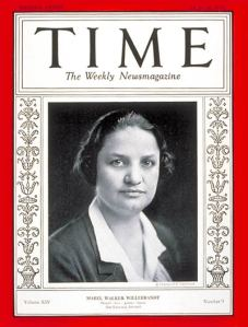 Mabel Willebrandt on the cover of Time Magazine, August 26, 1929