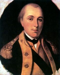 Marquis de Lafayette in a uniform of major general of the Continental Army