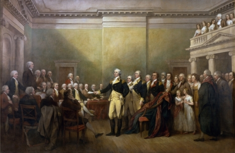 General George Washington Resigning His Commission, painted between 1822 and 1824 by John Trumbull