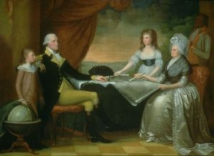 The Washington Family, painted in stages from 1789 to 1796 by Edward Savage.