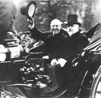 President Wilson in Paris with French President Raymond Poincaré, December 14, 1918