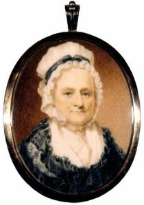 This miniature portrait, painted in 1772 by Charles Willson Peale, is the earliest depiction of Martha after her marriage to George Washington 