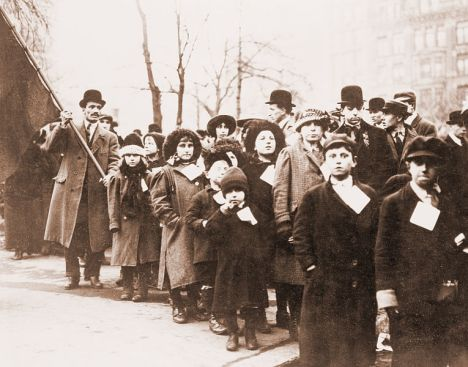 Children sent to live with sympathizers in New York City during the work stoppage