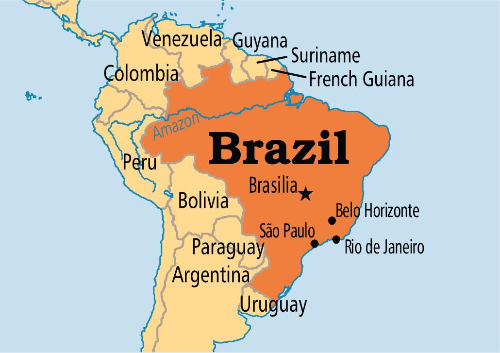 October Brazil Redefines Itself As A Federal Republic - Federative republic of brazil map