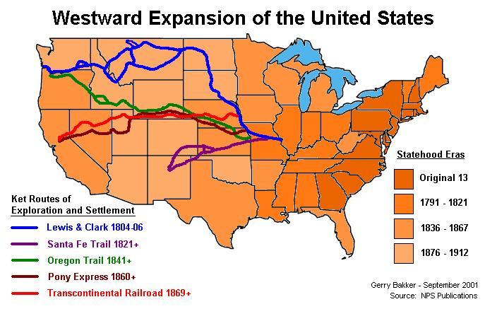 Westward Expansion Trails along with 1860 us map worksheet