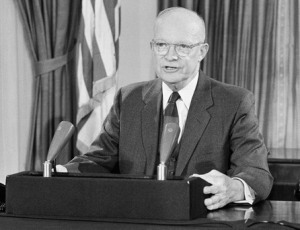 President Eisenhower in 1954
