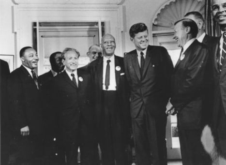 Civil Rights Leaders Meet With John F. Kennedy
