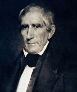Daguerreotype of William Henry Harrison, circa 1850 copy of 1841 original