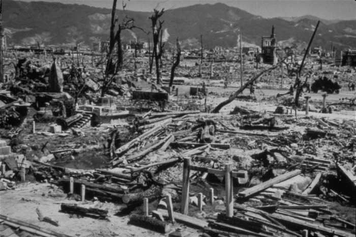 Aftermath Of The Explosion An Atomic Bomb On Hiroshima Japan Aug 6