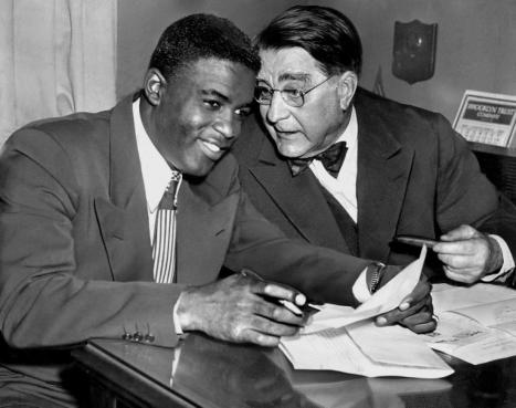 Jackie Robinson and Branch Rickey, 1950