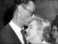 Miller and Monroe celebrating the Court of Appeals ruling in 1958