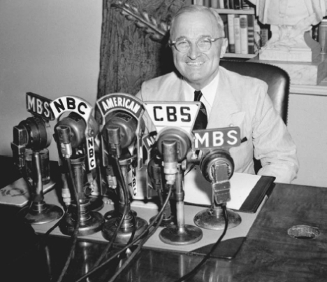 President Harry S. Truman defending his vetoing of the Taft-Hartley Act in a radio address on June 20,  1947