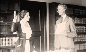 Mabel Willenbrandt taking the oath of office as U.S. Asst. Attorney General