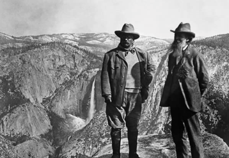 Teddy and John Muir at Yosemite