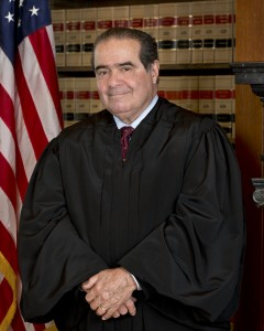 "Justice Scalia, proponent of ""originalism"" except in the case of his own opinions"