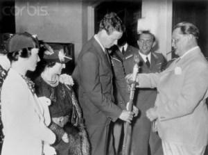 Hermann Göring presenting a medal to Lindbergh in October, 1938