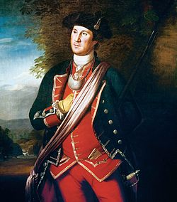 1772 portrait of Washington painted by Charles Willson Peale, showing Washington in uniform as a colonel of the Virginia Regiment.