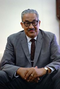 Thurgood Marshall in the Oval Office, 1967