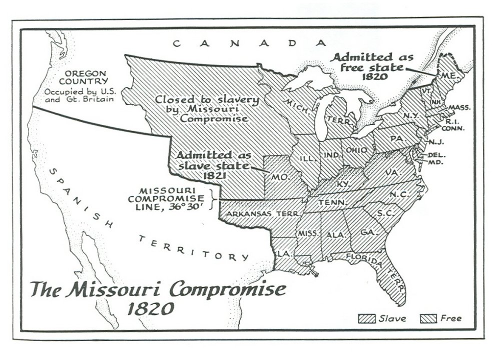 the compromise of 1820 and 1850 Compromise of 1850: timeline back  1820 missouri compromise signed into law the compromise of 1850 wasn't the first time a.