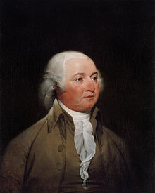 Portrait of Adams by John Trumbull, 1792–93