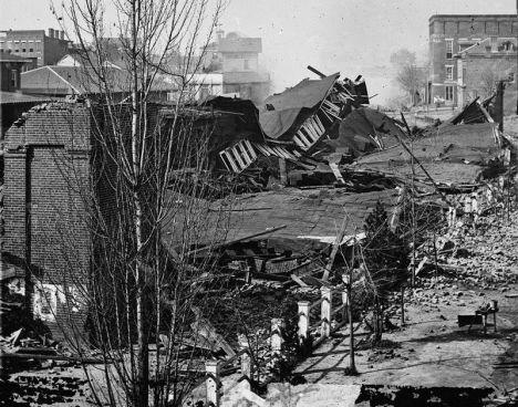 Atlanta train station in ruins 1864