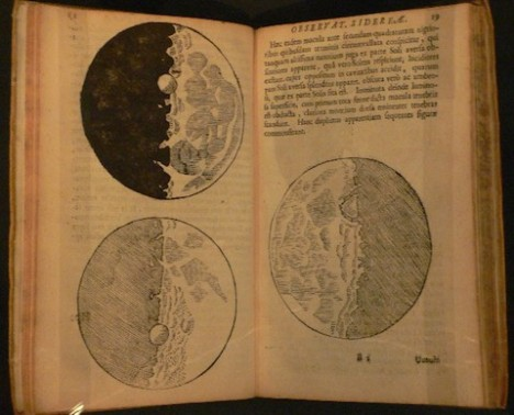 Phases of the moon shown in Galileo's Sidereus Nuncius