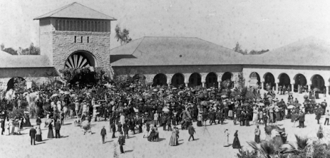Opening day at Stanford, 1891
