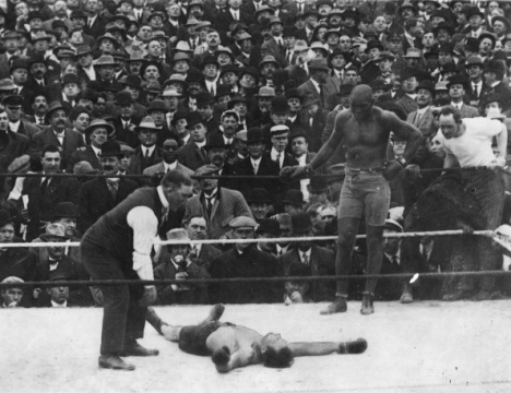 "Yet another boxer labeled ""The Great White Hope"" against Jackson goes down for the count"