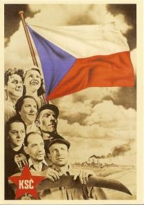 Propaganda Poster of the Czechoslovak Communist Party [KSČ]