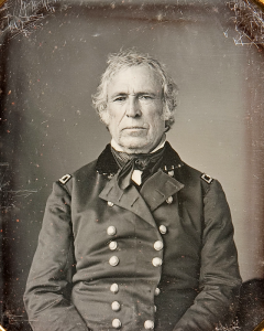 Daguerreotype of Taylor in uniform, circa 1843-45