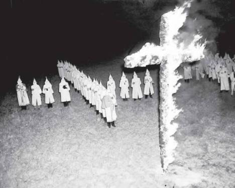 Ku Klux Klan rally in Tampa, Fla., Jan. 30, 1939. (AP Photo)